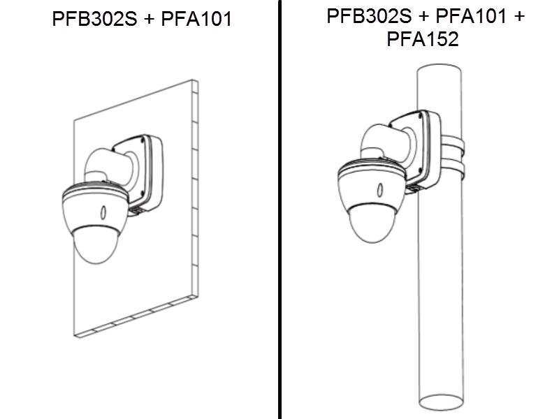 DAHUA PFB302S - Montaje de pared compatible con adaptadores PFA100 ...