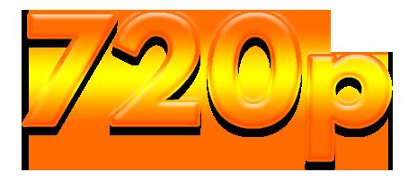 720P Text logo