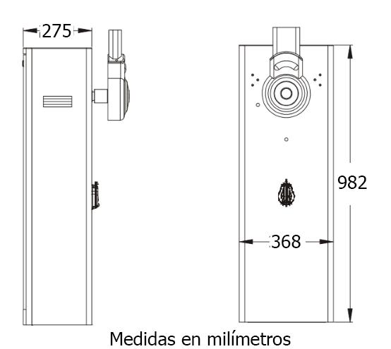 Dimensiones Barreras